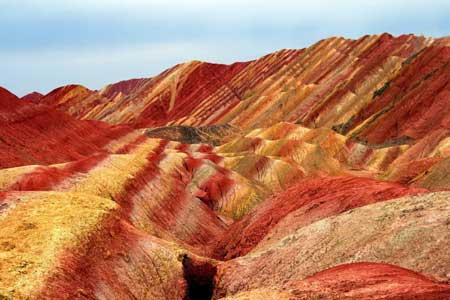 صخره های رنگی, کوههای رنگی در چین, صخره های Danxia در چین
