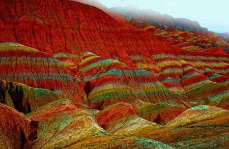 صخره های رنگی,عجایب طبیعت, صخره های Danxia در چین