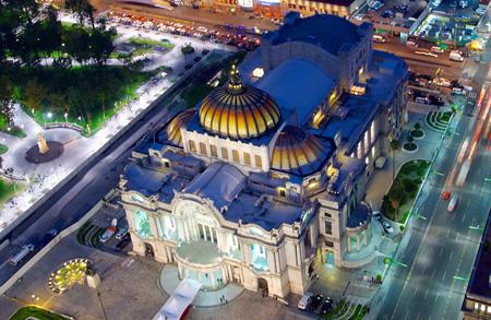 تصاویر قصر هنرهای زیبا در مکزیک,قصر هنرهای زیبا در مکزیک, مکانهای تاریخی مکزیک