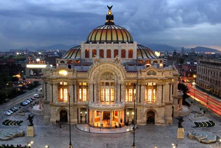 قصر هنرهای زیبا در مکزیک,مکانهای تاریخی جهان, مکانهای تاریخی مکزیک