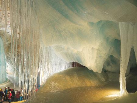 غار آیس ریزن وِلت اتریش,غار Eisriesenwelt, تصاویر غار آیس ریزن وِلت