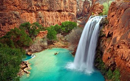 استخر های طبیعی,آبشارهای هاواسو,آبشارهای هاواسو
