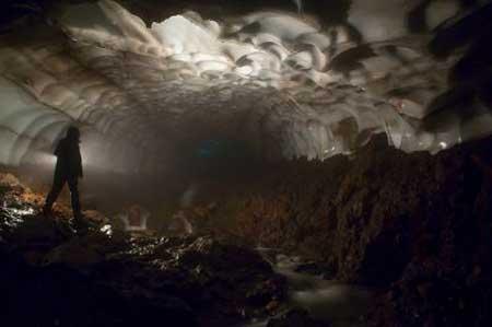 غار یخی كامچاتكا,گردشگری طبیعی,مکانهای دیدنی روسیه