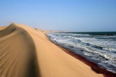 كویری پر از آب,صحرای نامیب