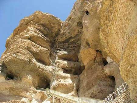 غار کرفتو,تصاویر غار کرفتو ,معماری غار کرفتو