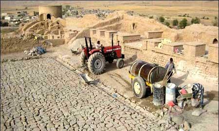 مکانهای تاریخی خوزستان ,شهر باستانی قلعه تل,آثارباستانی ایران