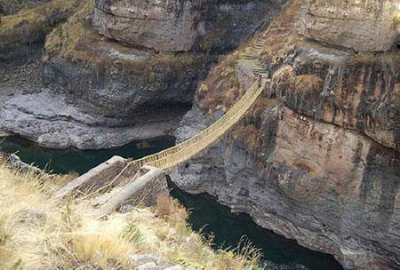 خطرناک ترین گذرگاه ، خطرناک ترین گذرگاه ها ، پل کشوا چاکا