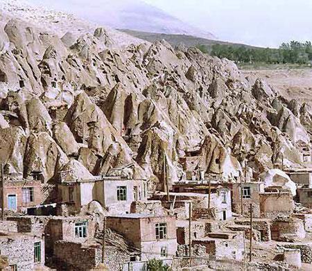 روستاهای صخرهای کندوان,روستاهای صخرهای جهان,روستای کندوان استان آذربایجان شرقی