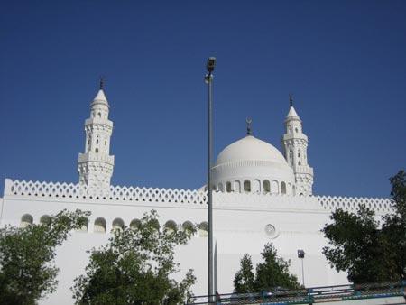 اخت مسجد قبا, ساخت مسجد قبا توسط پیامبر