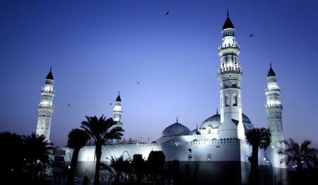 ساخت مسجد قبا, ساخت مسجد قبا توسط پیامبر