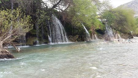 عکس آبشار آرپناه در خوزستان