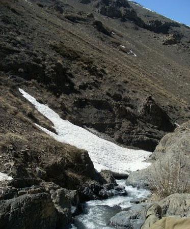 آبشار جنگلک در استان تهران