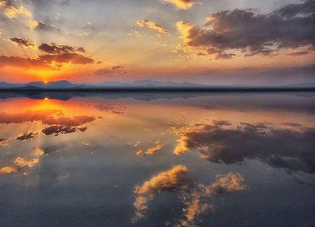 آینه طبیعی ایران،تصاویر بزرگترین آینه طبیعی ایران