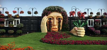 باغ گل در بیابان های دبی