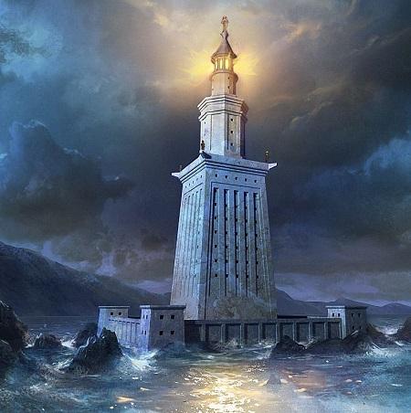 بندر اسکندریه ترکیه, بقایای فانوس اسکندریه, محل قرار گیری فانوس اسکندریه