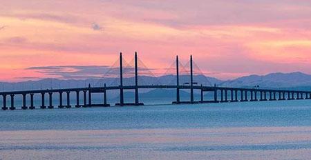 طولانی ترین پل جهان,طولانی ترین پل های جهان,پل پنانگ