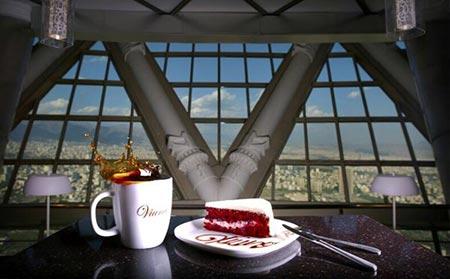 برج میلاد,عکس برج میلاد,کافه تریا