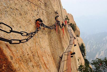 کوه هوآشان,کوه هوآشان از جاذبه های گردشگری چین,تصاویر کوه هوآشان