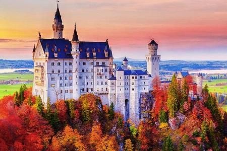 قلعه نویشوانشتاین,تصاویر قصر نویشوانشتاین آلمان,عکسهای قصر نویشوانشتاین
