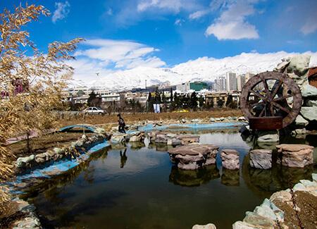 پل معلق پارک پردیسان, زمان ساخت پارک پردیسان, مساحت پارک پردیسان
