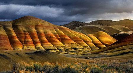 کوه رنگین کمان,کوه های رنگین کمان,عکس کوه رنگین کمان