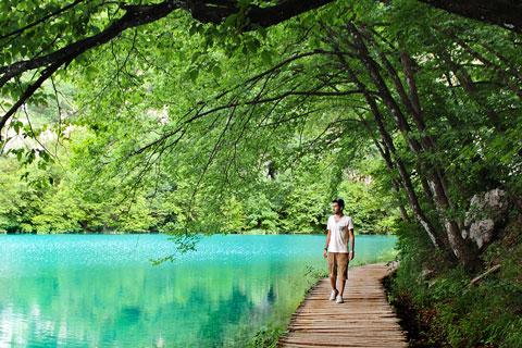 پارک ملی دریاچههای پلیتویک,دریاچه پلیتویک،جاذبه های طبیعی کرواسی