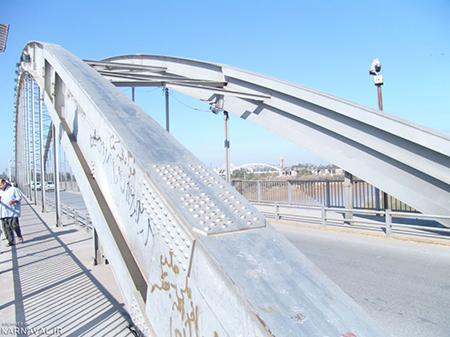 پل سفید اهواز,تاریخچه پل سفید اهواز,پل معلق اهواز