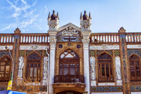 عمارت سرای روشن، تلفیق معماری ایرانی و اروپایی
