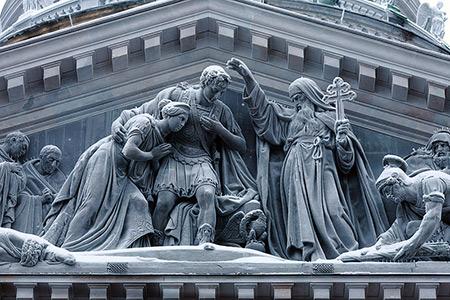 کلیسای سنت اسحاق,کلیسای سنت اسحاق بزرگترین کلیسای روسیه,عکس های کلیسای سنت اسحاق