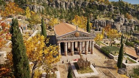 معبد آپولو در یک بازی ویدئویی