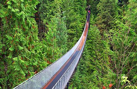 ونکوور,ونکوور کانادا,پل معلق کاپیلانو