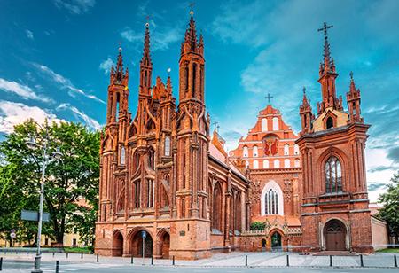 ویلنیوس,کلیسای سنت آنه,ویلنیوس پایتخت کشور لیوانی