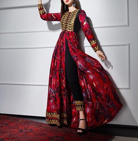 مدل های لباس افغانی, پیراهن افغانی