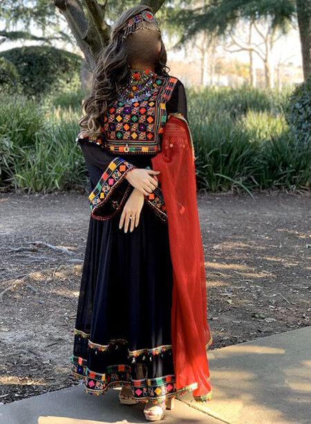 مدل لباس محلی افغانی, مدل پیراهن افغانی