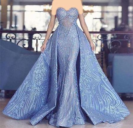 لباس مجلسی آبی, مدل لباس مجلسی به رنگ آبی