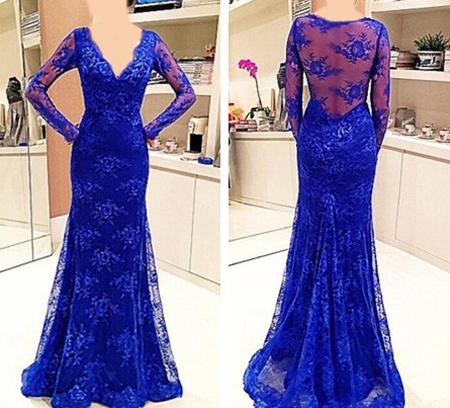 لباس شب آبی تیره, مدل لباس شب به رنگ آبی روشن