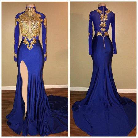 لباس شب زنانه, لباس شب آبی تیره