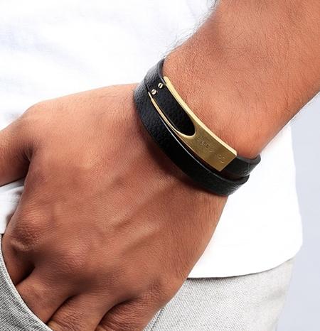 دستبند نقره, دستبند چرمی