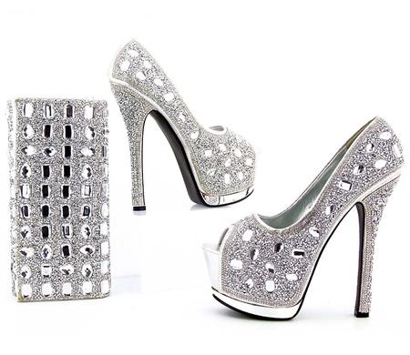 مدل های جدید ست کیف و کفش, ست کیف و کفش نقره ای