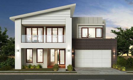 نمای شمالی ساختمان, نمای ساختمان دوبلکس