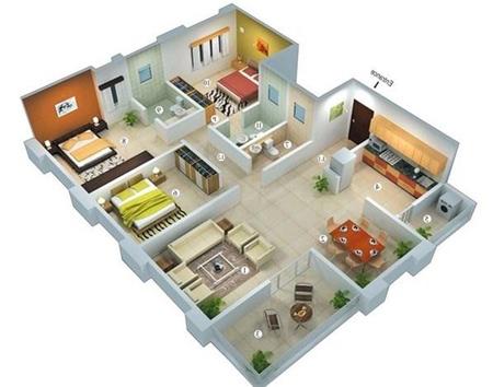 ide plen rumah minimalis 3 kamar