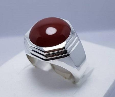 انگشتر عقیق مردانه مربع, انواع انگشتر عقیق مردانه, مدل انگشتر عقیق مردانه