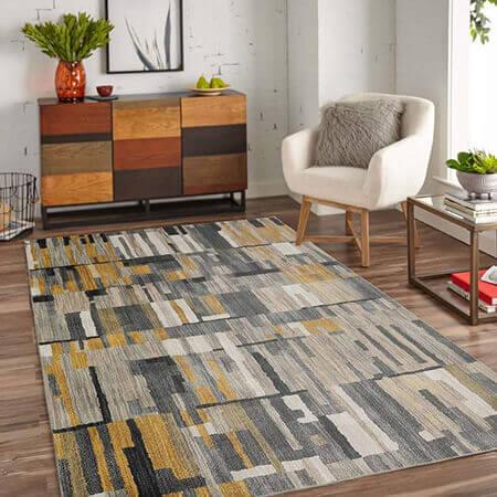 فرش های خاکستری و زرد,فرش به رنگ 2021