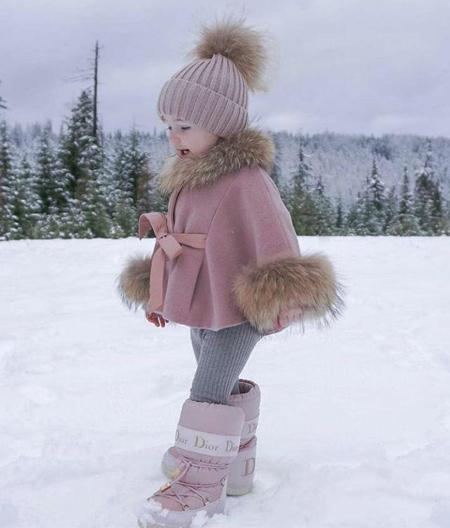 مدل لباس بچه گانه,لباس زمستانی دخترانه