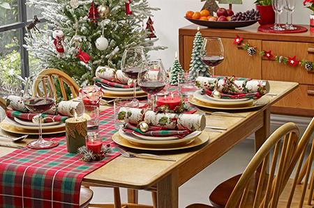 میز ناهارخوری در کریسمس,میزغذاخوری کریسمس