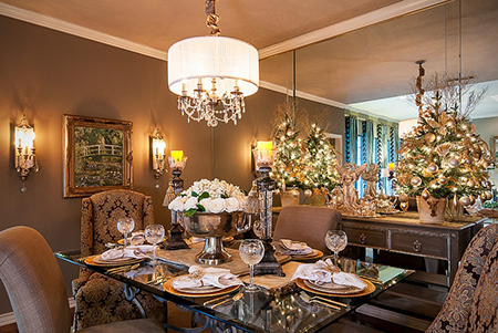 میزغذاخوری کریسمس,چیدمان میز غذاخوری