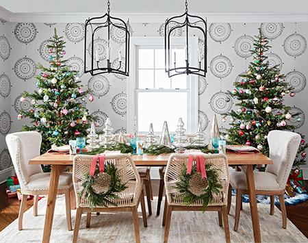 تزیین و چیدمان میز غذاخوری,چیدمان میز در کریسمس