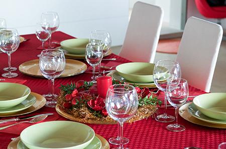 میزغذاخوری ویژه ی کریسمس,دکوراسیون میزغذاخوری