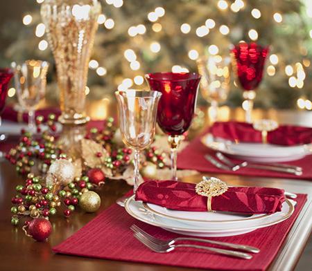 تزیین میز غذاخوری در کریسمس,تزیین و چیدمان میز غذاخوری