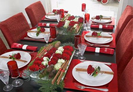 چیدمان میز در کریسمس,طراحی میز غذاخوری در کریسمس